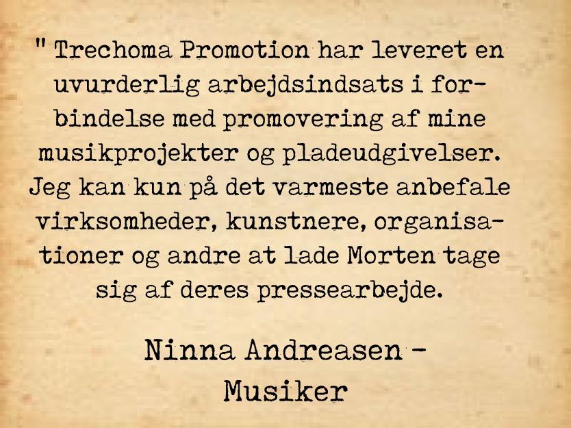 Ninna Andreasen - Anbefaling