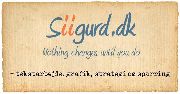 Siigurd.dk – tekstarbejde, grafik og strategi