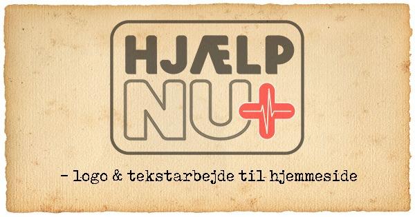 HjælpNu.dk – logo og tekst til hjemmeside