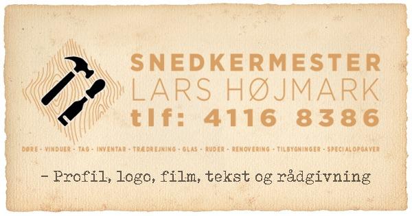 Profil – logo – video og opstart – Snedkermester Lars Højmark ApS
