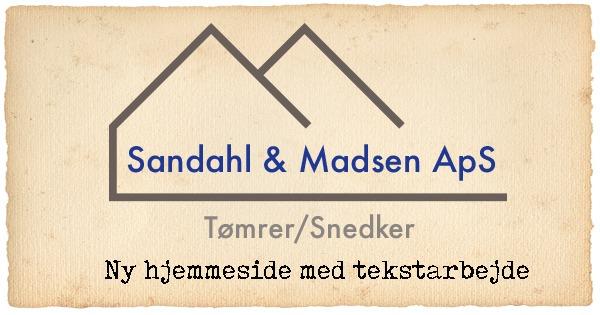 Hjemmeside og virksomhedsside til Sandahl & Madsen