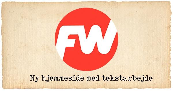 Hjemmeside til FW Rørteknik A/S