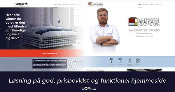 God, prisbevidst og funktionel hjemmeside